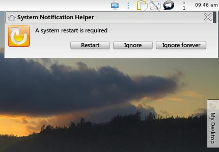 Reboot notification